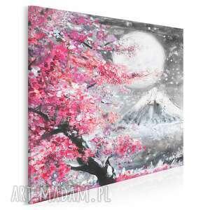 vaku dsgn obraz na płótnie - japonia wiśnia pejzaż w kwadracie 80x80 cm