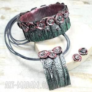 letnia łąka - oryginalny komplet biżuterii