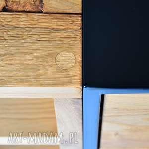 Komoda San-Ki 100 Dąb Czerń, loft, industrial, nowoczesne, stal, drewno,