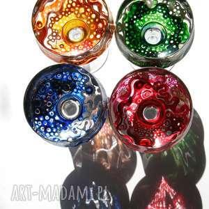 kieliszko świczniki, świeczniki, nastrój, szkło, malowane, kolorowe, ozdoba