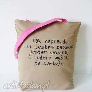 ręcznie zrobione na zakupy torba bawełniana z ręcznie wykonaną aplikacją