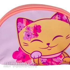 kosmetyczka mani lucky cats różowa, kimmidoll, manicat, prezent