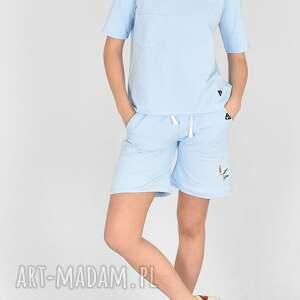 handmade sportowe komplet szorty bluzka celina niebieski
