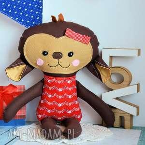 maly koziolek słodka małpka asia 45 cm, małpka, dziewczynka, truskawka, urodziny