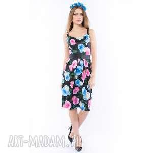 tajemniczy ogród - sukienka o gorsetowym fasonie, sukienki, kolorowa, kwiaty