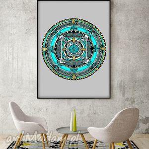 Mandala A1, plakat, mandala, etno, łapacz, sny