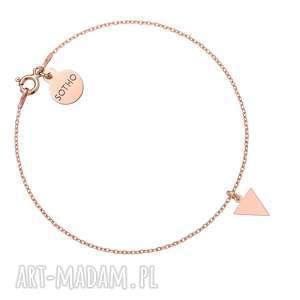 bransoletka z różowego złota z trójkątem - różowe złoto