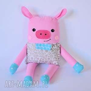 ręcznie robione zabawki chrumka, świnka z klasą - franek 38