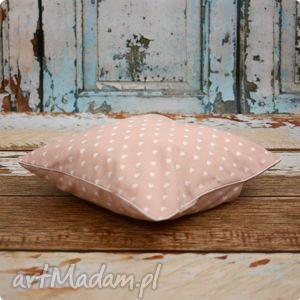 pokoik dziecka poszewka poduszka - pudrowy róż 35x35, poszewka, poduszka, poduszeczka