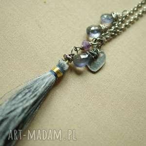 hand-made naszyjniki naszyjnik z kropelkami iolitu