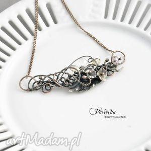 naszyjniki dark folwers - naszyjnik z kryształkami w secesyjnym stylu