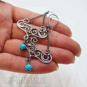 azurro, wirewrapping, oksydowany, jaspis, gwiazdoo, annagrys
