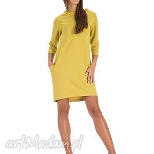 sukienki sukienka tunika w kolorze musztardowym rozmiar