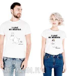 Zestaw Licencjonowanych Koszulek dla Par I LOVE MY MIGOTKA -on I MY MUMINEK