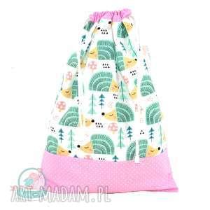 hand-made dla dziecka worek przedszkolaka jeże