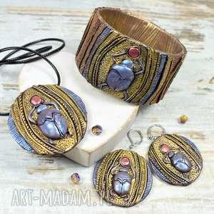 skabeusz - komplet biżuterii inspirowany starożytnym egiptem, starożytnyegipt