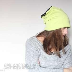 dzianinowa czapka handmade wiosenna sportowa (wiosna sport etno boho, folk)