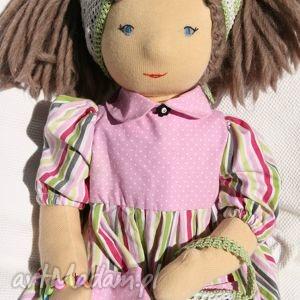 lalka waldorfska marysia z ubrankami i dodatkami, lalka, waldorfska, szmaciana