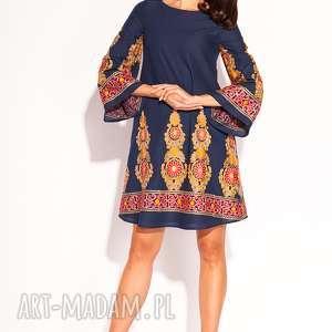 Sukienka orsi sukienki pawel kuzik bawełniana, granatowa, letnia