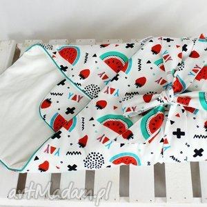 roŻek niemowlĘcy - arbuzy - rożek, otulacz, niemowlę, arbuz, dziewczynka