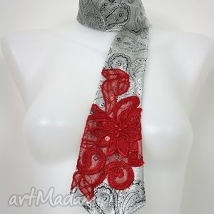 ręcznie zrobione krawaty krawat damski