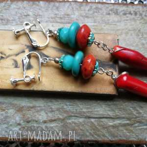hand made klipsy koraliki kamienie boho etno folk
