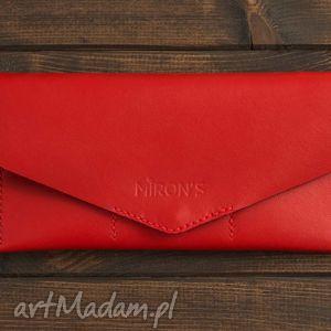 portfele kopertówka czerwona, portfel, portfelik, kopertówka, skóra, skórzany