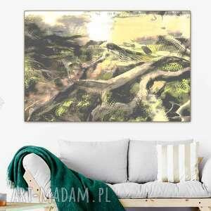 obraz na płótnie drzewa i las 120 x 80 skandynawski ścianę do salonu