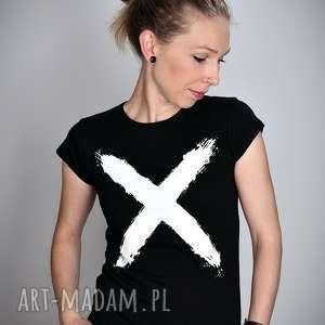 koszulki koszulka czarna x - damska, minimal, shirt, prezent, t bluzka