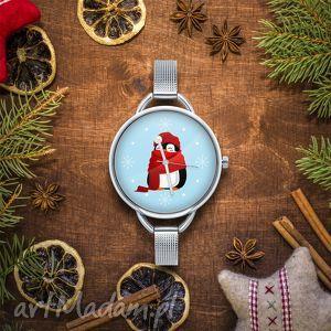 pomysł na świąteczne prezenty Zegarek z grafiką ŚWIĄTECZNY PINGWIN, boże, narodzenie