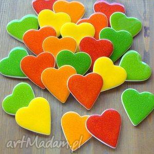 Kolorowe serca ślub pracownia ako podziękowania, prezenty