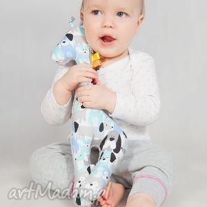 mięciutka żyrafka - minky ecru z bawełną w piesi, minky, pluszak, maskotka, żyrafa