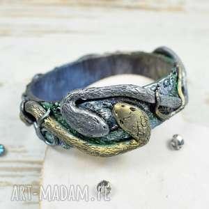 Prezent Oryginalna bransoletka węże , bransoletka-wąż, biżuteria-wąż