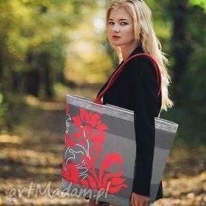 wyjątkowy prezent, czerwony ornament, z filcu, filcowa, torba, torebka, torebki