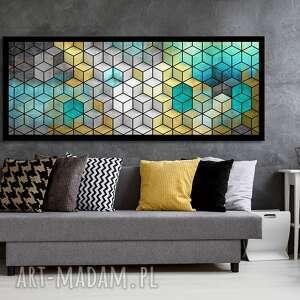 Obraz na płotnie - 150x60cm abstrakcyjny obraz: sześciany 02357