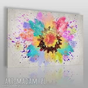 obraz na płótnie - abstrakcja artystyczny kolory 120x80 cm 63401