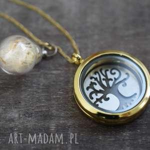 925 pozłacany medalion drzewo życia - drzewo, życia, natura, srebro