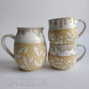 handmade ceramika dzbanek ceramiczny i dwa kubki