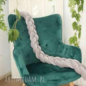 knot braid / ochraniacz poduszka warkocz szary 140x13, knotpillow, styl
