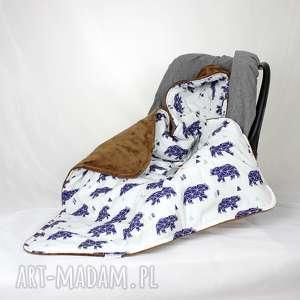 kocyk do fotelika samochodowego niedźwiedź - kocyk, nosidło, fotelik