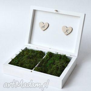 Pudełko na obrączki ślubne Rustykalne, pudełkonaobrączki, ślub, wesele
