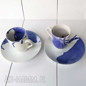 Prezent komplet śniadaniowy dla dwojga, malowane-naczynia, zastawa-dla-dwojga