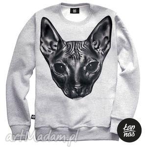święta prezent, bluza,,allien cat, kot, bluza, szara, nadruk, prezen, blog