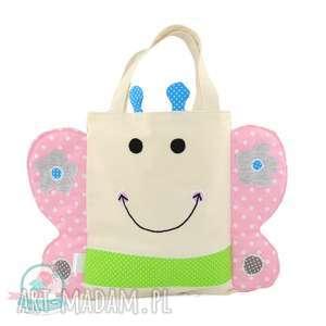 Torebka motyl, torba-do-przedszkola, torba-dla-dziecka, motyl