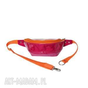 nerka fuksja pomarańcza, rękodzieło, modna, wygodna, pojemna, na rower, spacer