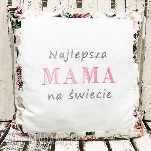 poduszka najlepsza mama na świecie 40x40cm od majunto, dzień mamy, matki
