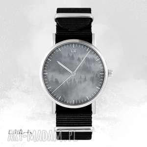 zegarek - into the wild czarny, nato, unisex, zegarek, bransoletka, las
