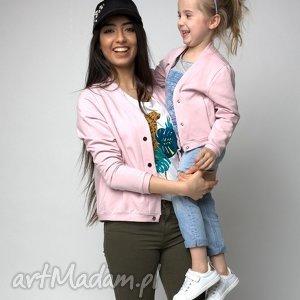 ubranka bomberka dziecięca pudrowy róż, bomberka, dziecko, wiosna, dzianina dla