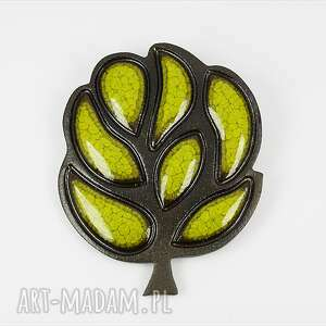 drzewo - ceramika, broszki