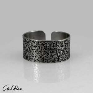 Piasek - srebrna obrączka 130620 -08 # obrączki caltha